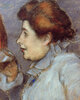 Frau mit Glas