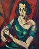 Weibliches Bildnis (Frau in grünem Kleid)