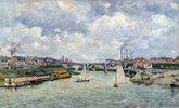 Le port de Charenton (Bateaux à voile)