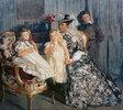 Madame Simon mit ihren Kindern