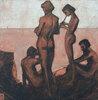 Junge Männer am Meer
