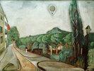 Landschaft mit Luftballon