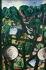 Blick auf den Tiergarten mit weißen Kugeln (Parkbild)