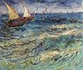 Fischerboote auf dem Meer bei Saintes-Maries