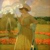 Schmoll von Eisenwerth, Karl;1879?1948.?At the fountain? (Am Springbrunnen), April 1908.Oil on canvas, 70 × 70 cm.Lütze Museum;Sindelfingen, City Gallery
