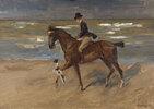 Reiter am Strand