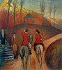 Landschaft mit Reiter und Reiterin