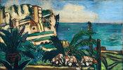 Riviera-Landschaft mit Felsen