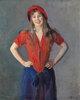 Portrait der Malerin Oda Krohg