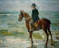Reiter am Meer nach links
