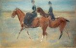Reiter und Reiterin am Meer