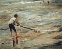 Muschelfischer - Graue See, Studie
