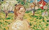 Frau im Garten