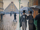 Straße in Paris; Regentag