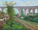 Das Arcueil-Aquädukt am Bahnübergang von Sceaux