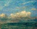 Meer mit weisser Wolke
