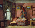 The bedroom in the house of the composer Pyotr I. Tchaikovsky
