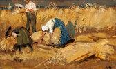 Bauern bei der Kornernte