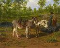 Köhler mit seinen beiden Eseln