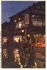 Das Kagurazakadôri bei Nacht, nach dem Regen