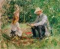 Eugène Manet und seine Tochter im Garten