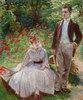 Pierre und seine Tante Louise im Garten