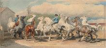 Rückkehr vom Pferdemarkt