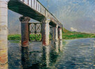 La Seine et le pont de chemin de fer à Argenteuil