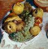 Stillleben, drei Weintrauben