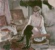 Etude de jeune femme sur sa chaiselongue