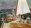 Signac und seine Freunde auf einem Segelboot