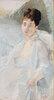 Die Genesende. Porträt einer Frau in Weiß
