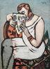 Frau in weissem Hemd (lesend)