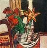 Rote Tulpe und Feuerlilien