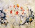 Vase mit Blumenstrauß