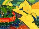 Kandinsky, Wassily1866?1944.?Murnau ? Landschaft mit Regenbogen?,Sommer 1909.Öl auf Pappe, 32,9 × 42,8 cm
