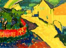 Murnau, Landschaft mit Regenbogen