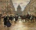 Der Boulevard Saint-Michel in Paris. Nach