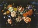 Girlande aus Blumen und Früchten. 1. Hälfte 17. Jahrhundert