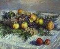 Stilleben mit Birnen und Trauben