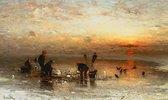 Fischfang im Winter