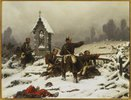 Preussische Infanterie im Schnee