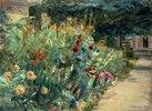 Blumenbeet im Garten des Künstlers am Wannsee