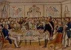 Wiener Friedenskongress 1831 mit den Fürsten Europas (Mitte: Die Kaiser Franz