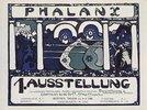 Plakat für die erste Phalanx-Ausstellung 1901. (Farblithographie nach einer Zeichnung von Kandinsky)