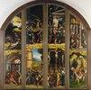Aussenseite eines Flügelaltars mit acht Bildern aus der Passion Christi