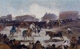 Stierkampf in einem Dorf. Um 1812/29