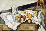 Stilleben mit Pfirsichen und Birnen