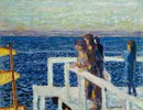 Strandpromenade mit Mädchen