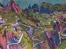 Tessiner Landschaft mit Weinbergen